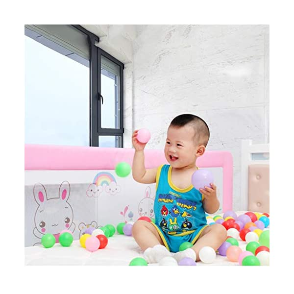 Playpens Crib Guardrail Baby Shatter-resistant Fence Large Bed 1.2-1.5 Meters Children Against Bedside Baffle (color : B, Size : 1.5m) Playpens ★ high quality non-toxic materials,Size:120cm/150cm ★ Vertical lift structure: no space is occupied, and it is more convenient to enter and exit. Push the fence down at the push of a button ★ height adjustment: can be adjusted according to the thickness of the mattress, so that the bed is close to the mattress. Avoid gaps between the mattress and the guardrail to prevent your child from falling 5