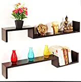 Bluewud Riley Wall Shelf (Wenge)