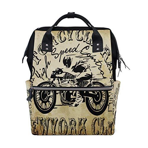 Multifunktionsrucksack Rucksack Perfect Skeletons Skull Motorrad Racing Travel Daycare für Damen Mädchen -
