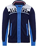Napapijri Hommes sweatshirt zip-through bitan Marine