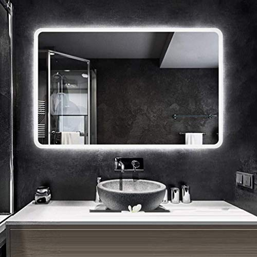 MTFZD Rectangular Inteligente LED Iluminado Espejo de baño con un Toque Anti-vaho Interruptor montado...