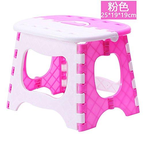 ShouYu Kunststoffhocker mit dicken Klapphocker kleine Bänke auf einem niedrigen Hocker Mazar outdoor Hocker B 616 Kunststoff angeln Stuhl,...
