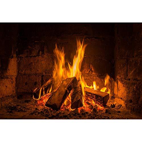 YongFoto 1,5x1m Vinilo Fondo de fotografía Fuego Caliente Quema de leña Chimenea...
