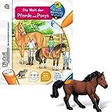tiptoi Ravensburger 2-Teiliges Set 00608 00401 Buch: Wieso? Weshalb? Warum? Die Welt der Pferde und Ponys + Tierfigur: Dartmoor Pony