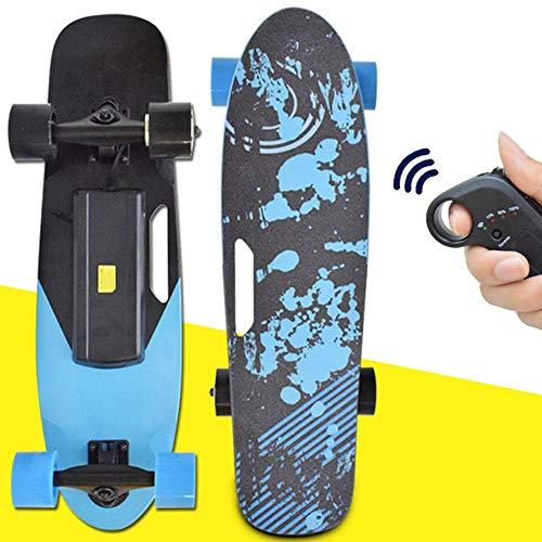 Elektrisches Skateboard mit Fernbedienung Dual Radnabenmotoren Longboard Elektroskateboard- 15 km/h Für Reiter, Kinder und Erwachsene