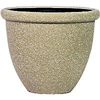 Pietra Luce SB Series 37 centimetri Fusioni pietra rotonda Planter - Beige Sandstone (confezione da 6)
