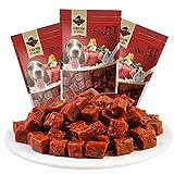 SULESI Snack per Addestramento di Cani per Animali Domestici Grano di Manzo Premio Carne Secca Piccolo Cane Orsacchiotto Pulizia dei Denti Molare Grano di Manzo 150 G Tre Sacchetti