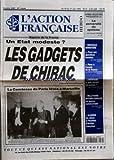 ACTION FRANCAISE (L') [No 2382] du 25/05/1995 - UN ETAT MODESTE - LES GADGETS DE CHIRAC - LA COMTESSE DE PARIS FETEE A MARSEILLE - APRES L'ELECTION PRESIDENTIELLE - LA PERVERSITE DU SYSTEME PAR GEORGES FERRIERE - NOUVEAU MINISTERE - FACE AUX QUESTION