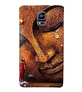 PrintVisa Lord Gautam Buddha 3D Hard Polycarbonate Designer Back Case Cover for Samsung Galaxy Note 4 :: Samsung Galaxy Note 4 N910G :: Samsung Galaxy Note 4 N910F N910K/N910L/N910S N910C N910FD N910FQ N910H N910G N910U N910W8