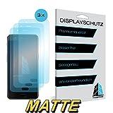STANDWERT Bildschirmschutzfolie screen protector für OnePlus 5 / OnePlus 5T - matte Folie Anti-Reflex Anti-reflektierend - 3er Set