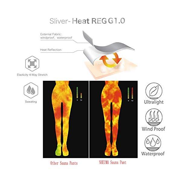 NHEIMA Pantaloni Sauna Dimagranti, Leggings Anticellulite Donna Fitness, Leggings Termici Vita Alta in NANOTECHNOLOGIE… 2 spesavip