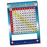 Primary Teaching Services Poster géant des tables de multiplication en plastique pour la salle de classe avec marqueur effaçable à sec A1