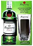 Tanqueray London Geschenkset / Set - Tanqueray Dry Gin 70cl (47,3% Vol) + Longdrink-Glas