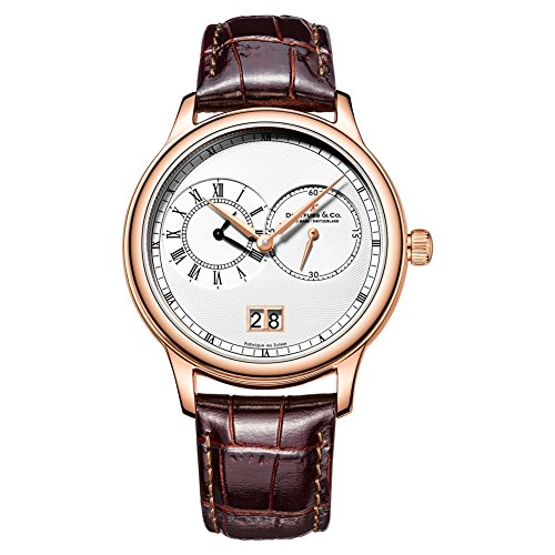 Mens Dreyfuss Co Dual Time Complication Watch DGS00122/06