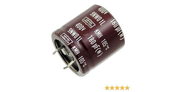 2x Snap In Elko Kondensator 180µf 400v 105 C Kmh400vn18130x30t2 180uf Elektronik