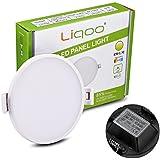 Liqoo® 6W Focos LED Panel Luz de Techo Downlight Ultra delegada Transformador Incluido Redondo Blanco Cálido 3000K 30 leds Ángulo de visión 120° 450LM