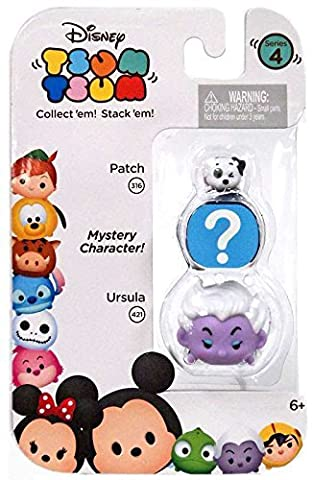Disney Tsum Tsum Series 4 Patch & Ursula 1 Minifigure 3-Pack