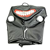 Longsw New Tokyo Ghoul Kaneki Ken Verstellbarer Reißverschluss Kunstleder Maske Cosplay Halloween