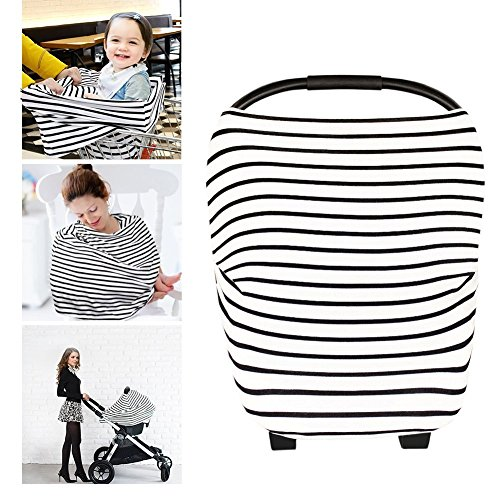Buggy Cart Cover (neufashion Baby Auto Himmel Stillen Cover Schal Baby Sonnensegel für Kinderwagen Multi Verwendung dehnbar Cover für Stillen Geschenk für Jungen Mädchen)