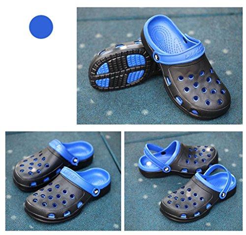 hibote Weiche Sohle Clogs Badeschuhe Breathable Rutschfest Sandalen Badezimmer Outdoor Sommer Strand Lässig Flach Hausschuhe Unisex Herren Grau