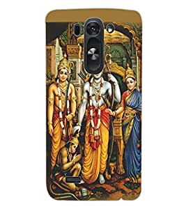 ColourCraft Lord Ram Laxaman Janaki and Hanuman Design Back Case Cover for LG G3 S
