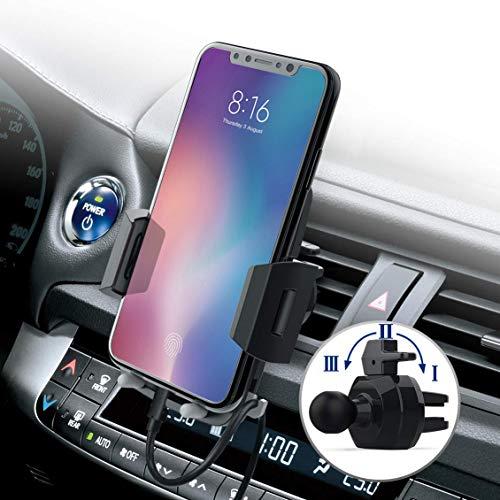 Avolare Handyhalter fürs Auto Handyhalterung Auto Lüftung Universale Autohalterung Phone Halter 360 Grad Drehbar für Phone, Samsung, Huawei, LG und Mehr - 3 Stufen Klammer (Apple One)