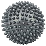 7cm Spiky Punkt Massage Ball Roller Fußreflexzonenmassage Stress Relief Palm Fuß Arm Hals Grau