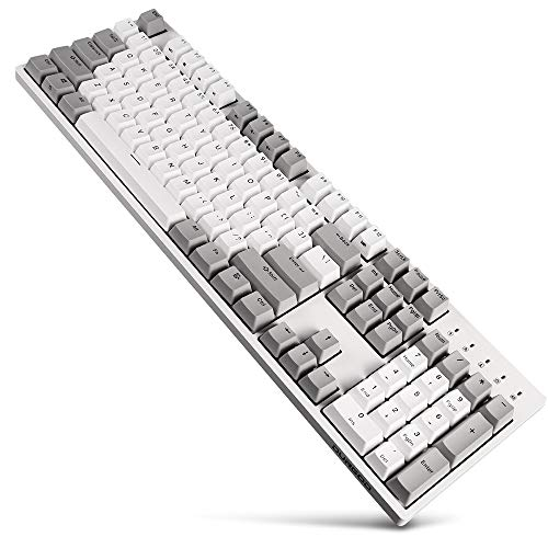 59f62382006 DURGOD Typewriter Mechanical Keyboard with Cherry MX Blue Switches (PBT  Keycaps) Type C Interface