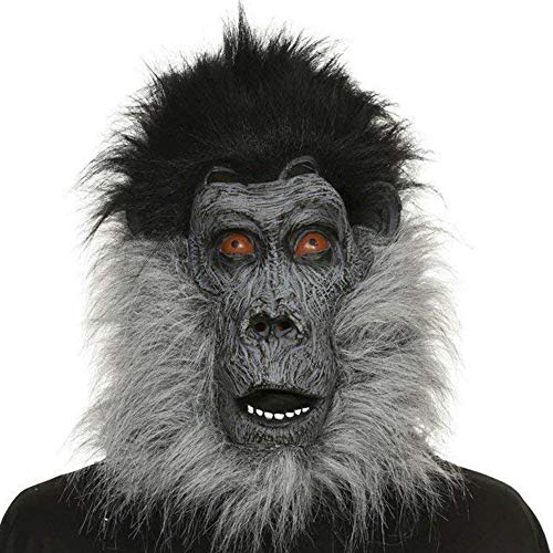 Gorilla AFFE Herren Fasching Halloween Karneval Kostüm Maske für Erwachsene