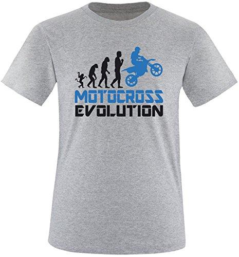 EZYshirt® Motorcross Evolution Herren Rundhals T-Shirt Grau/Schwar/Blau
