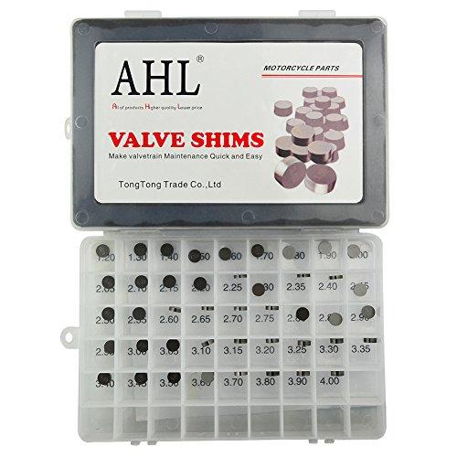 AHL 44pcs 9.48mm O.D. 1.20mm-4.00mm Thick Adjustable Valve Shim Kit for Yamaha TDM850 1992-1993 Test