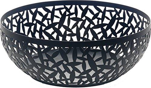 Alessi Cactus - Frutero (29 cm), diseño a base de formas de cactus, color negro