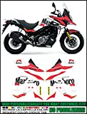 Kit adesivi decal stikers SUZUKI V-STROM DL 650 2017 + XT PARIS DAKAR MARLBORO GASTON RAHIER (ability to customize the colors)