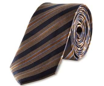 s.Oliver BLACK LABEL Herren Krawatte 12.302.91.2004, Gr. one size, Braun (8997)