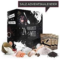 SALZ Adventskalender 2018 I Weihnachtskalender mit 24x20g hochwertigen Salzen aus der Welt Adventskalender für Erwachsene Adventskalenderideen Geschenk