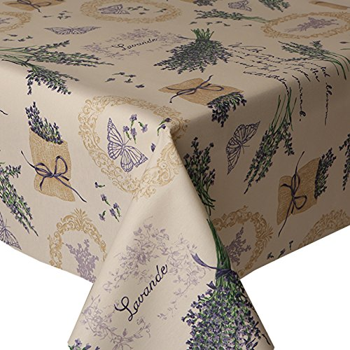 acrylic-coated-tablecloth-lavender-2-metres-200cm-x-140cm-floral-herb-sack-butterflies-writing-latte