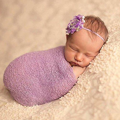 Amorar Neugeborenes Fotografie Wrap, Neugeborenes Baby Fotografie Requisiten Lange DIY Ripple Wrap Baby Foto Requisiten Hintergrund weiche Decke, Baby Fotoshooting Accessoires,EINWEG ()