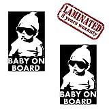 2 Stück Vinyl Aufkleber Autoaufkleber Stickers Baby On Board Kind