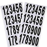 Outus 10 Feuilles Autocollants de Nombre Autocollants Chiffres en Vinyle Auto-Adhésif pour Bricolage Décoration de Fête, 12 x 6,5 Pouces