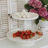 Etagere Cupcake in weiß im Landhaus Shabby Chic antique Stil