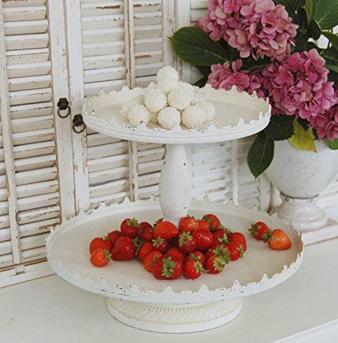 windschief-living Etagere Cupcake in weiß im Landhaus Shabby Chic Antique Stil