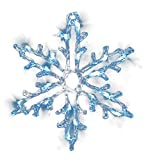Fensterbild beleuchtet 30x30cm, Motiv Schneeflocke, mit Saugnapf, 18x LED eisweiss