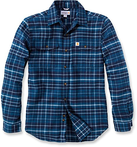 Carhartt Trumbull Slim Fit Flannel Shirt Stream Blue