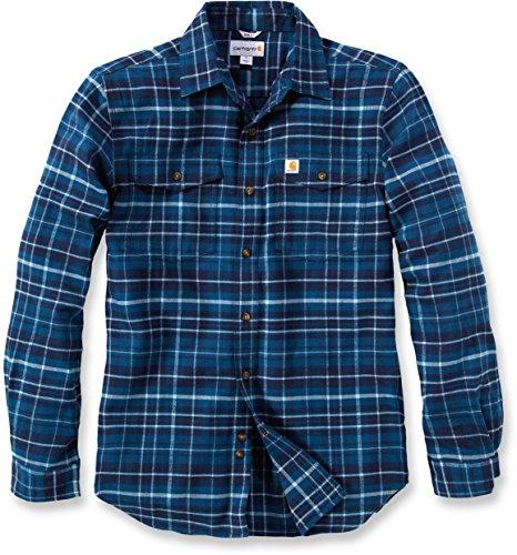 Carhartt Trumbull Slim Fit Flannel Shirt | Stream Blue | Gr. XXL (T-shirt Rotes Moss)