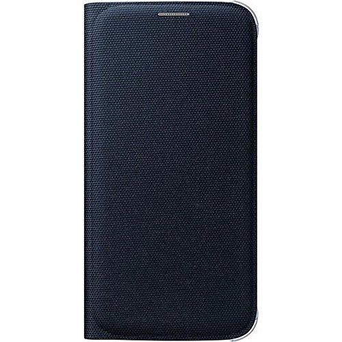 Samsung Fabric Folio Wallet Schutzhülle Case Cover mit Kreditkartenfach für Galaxy S6, schwarz (Samsung Galaxy S6 Wallet Case)