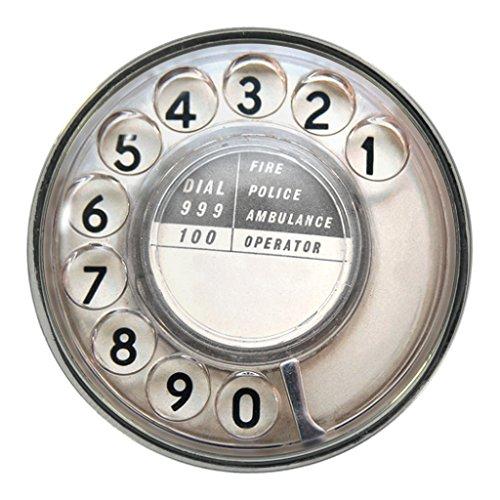 Preisvergleich Produktbild Anstecker Telefon-Zifferblatt-Design, Metall