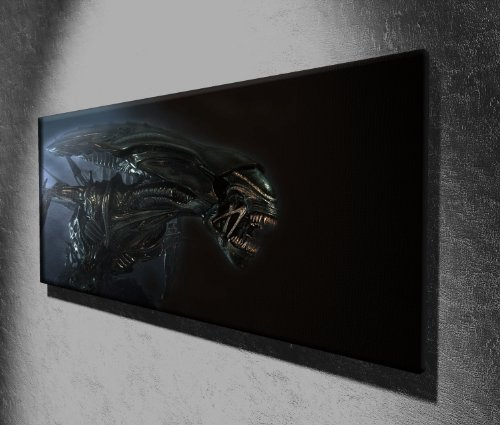 Canvas35 Leinwanddruck Alien on The Attack Horror Panorama, 127 x 51 cm