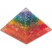 Sieben Chakra Multi Orgonit Pyramid/Reiki Crytsal Pyramiden zur Heilung und Chakra Home Dekoration 65mm mit Tasche preisvergleich bei billige-tabletten.eu
