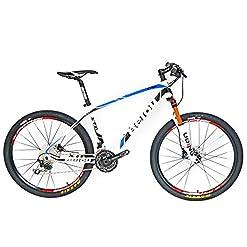 BEIOU® mountain bike hardtail in fibra di carbonio, Shimano Deore M610, 30 velocità, ultraleggera (10,65 kg), ruote RT da 26 pollici, passaggio cavi interno professionale Toray T800, mozzi in carbonio lucido CB018