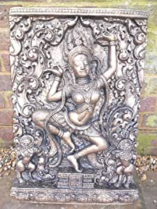 Mirroroutlet Grand Bouddha Thaï Plaque en pierre pour décoration de jardin statue